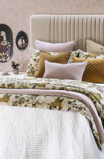 Bianca Lorenne - Pavage - Bedspread /Pillowcase and Eurocase Sold Separately - White