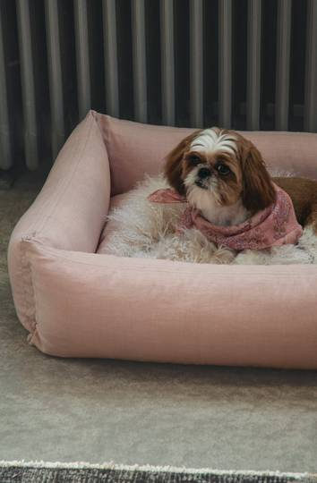 Bianca Lorenne - Pink Chambray Pet Bed
