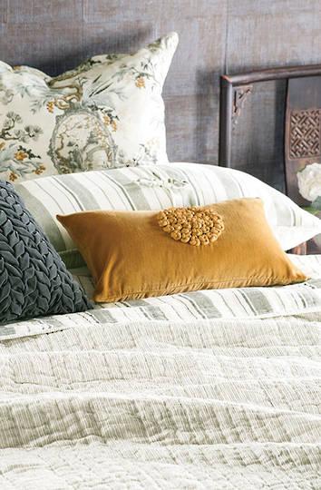 Bianca Lorenne - Pezzato Bedspread / Pillowcase/Eurocase -  Ivory Charcoal