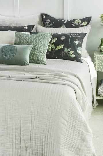 Bianca Lorenne - Pezzato Bedspread / Pillowcase/Eurocase -  Ivory