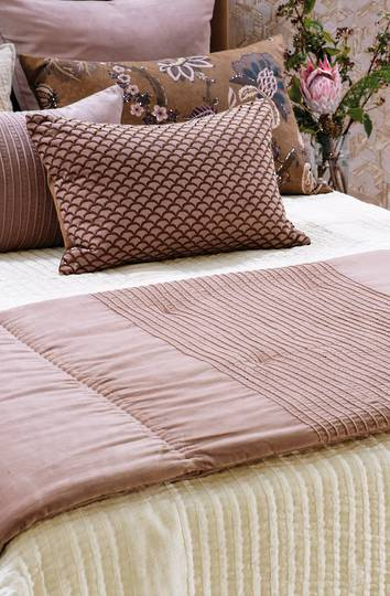 Bianca Lorenne - Piega Comforter/ Eurocase /Cushion - Antique Rose