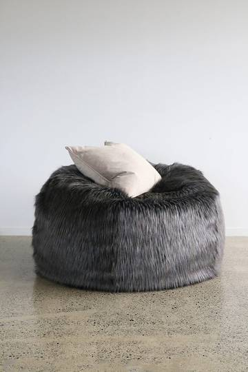 Heirloom Exotic Faux Fur - Plush Pod Bean Bags - Dark Pheasant