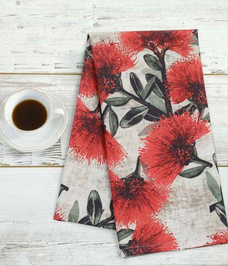 MM Linen - Pohutukawa Tea Towels
