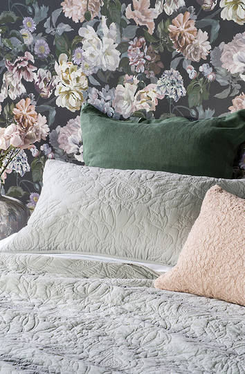 Bianca Lorenne - Pomegranate Bedspread/Eurocase - Pale Grey