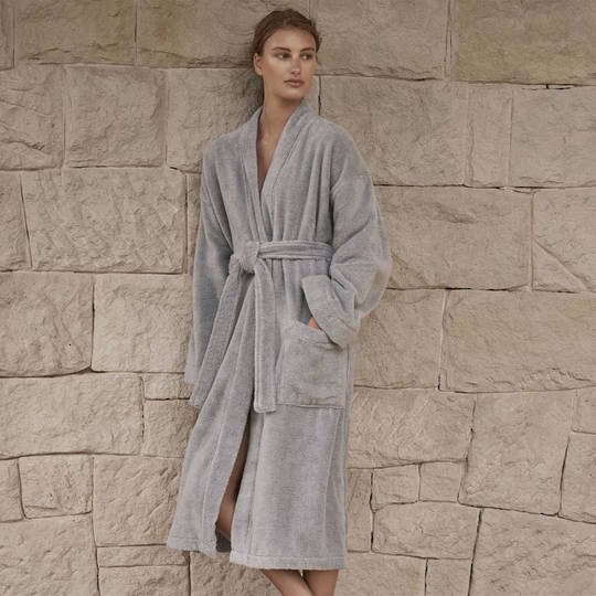 Sheridan - Quick Dry Luxury Unisex Robe - Sterling