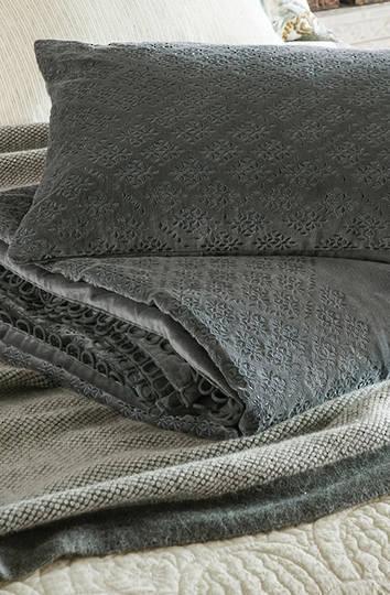 Bianca Lorenne - Sashiko Comforter and Cushion -  Charcoal