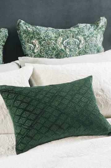 Bianca Lorenne - Sashiko Cushion - Emerald