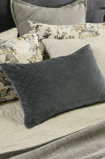 Bianca Lorenne - Sashiko Cushion - Charcoal