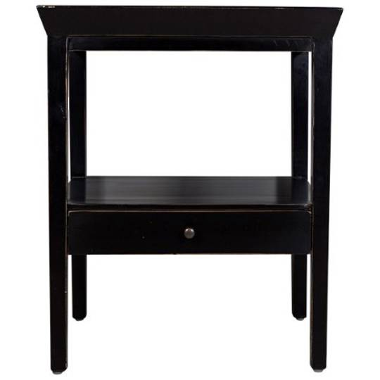 French Country - Santiago Bedside Table - Black