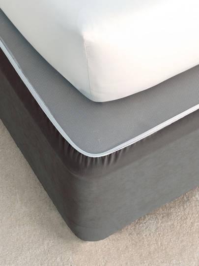 Linen House - Savona Plain Suede Bedwrap - Castlerock