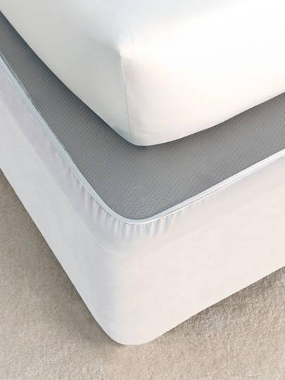 Linen House - Savona Plain Suede Bedwrap - White