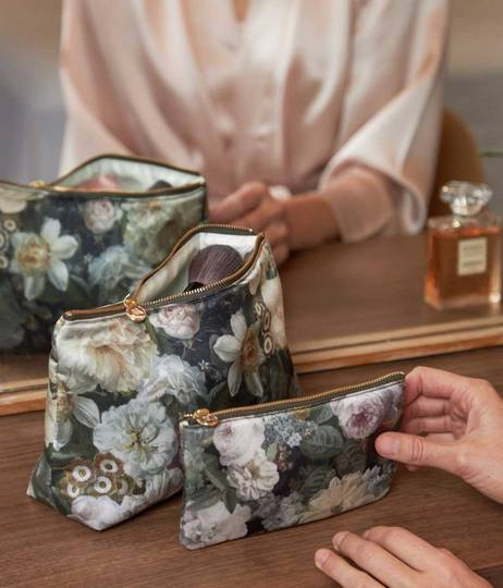 MM Linen - Floz - Silk Cosmetic Bag and Pouch Set