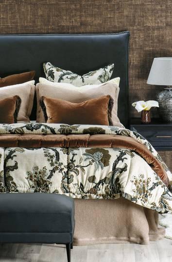 Bianca Lorenne - Tramonto Comforter/ Eurocase /Cushion - Copper