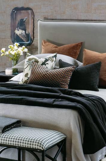 Bianca Lorenne - Petalo Comforter/ Eurocase /Cushion - Black