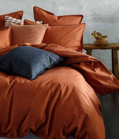 MM Linen - Stitch Duvet Set/Eurocase Set - Clay