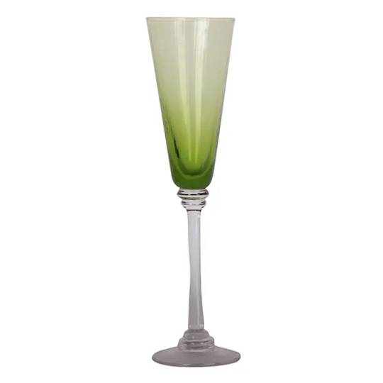 French Country - Talbot Champagne Glass - Green