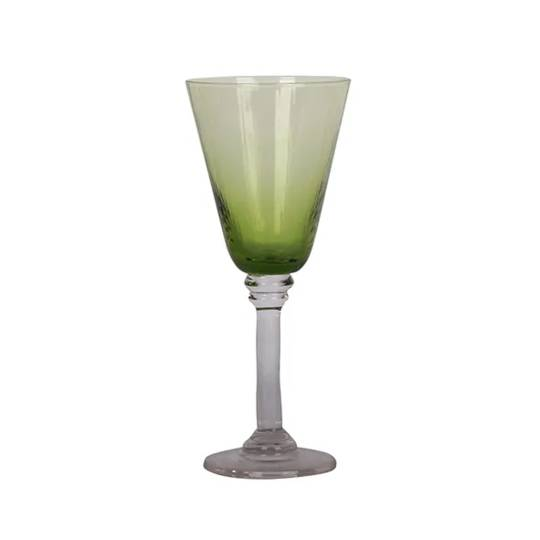 French Country - Talbot Wine Glass - Green
