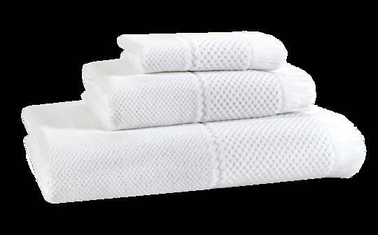 Importico - Devilla - Velour Jacquard White Towels