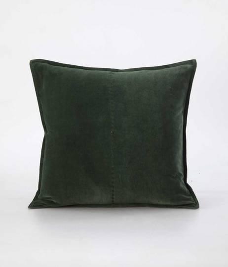 MM Linen - Velvet Cushion - Forest