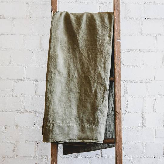 Seneca - Vida Linen Sheets / Pillowcases - Khaki