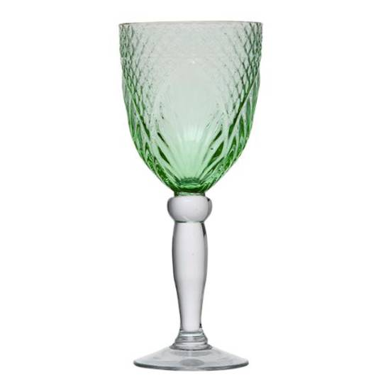French Country - Vintage Green Goblets
