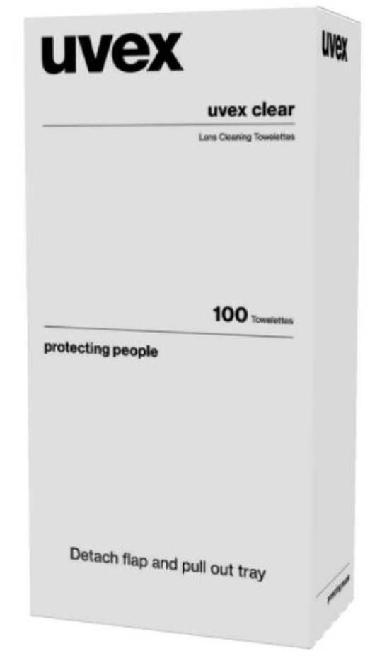Uvex Lens Cleaning Towelettes 100 Pack