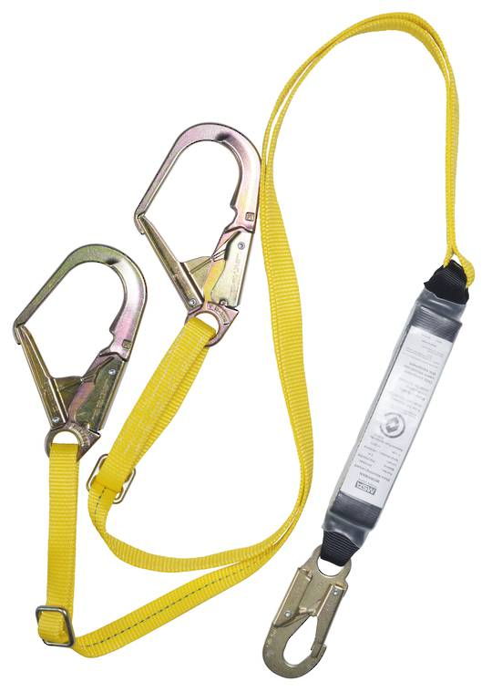 MSA Workman 2.0m Adjustable Webbing Twin Leg Scaffold Lanyard