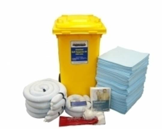 SpillTech 240L Chemical Spill Kit Wheelie Bins