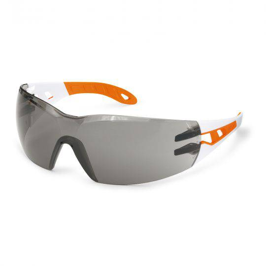 Uvex Pheos Small White/Orange Frame Spectacles - Grey HC-AF
