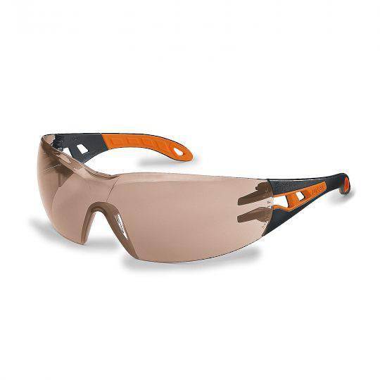 Uvex Pheos Black/Orange Frame Spectacles - SCT