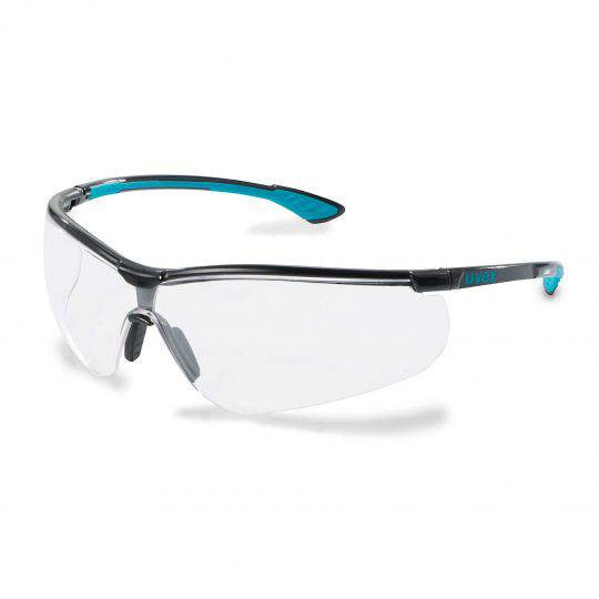 Uvex Sportstyle Black/Blue Frame Spectacles - Clear HC