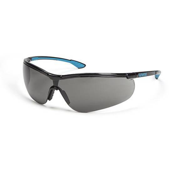 Uvex Sportstyle Black/Blue Frame Spectacles - Smoke HC