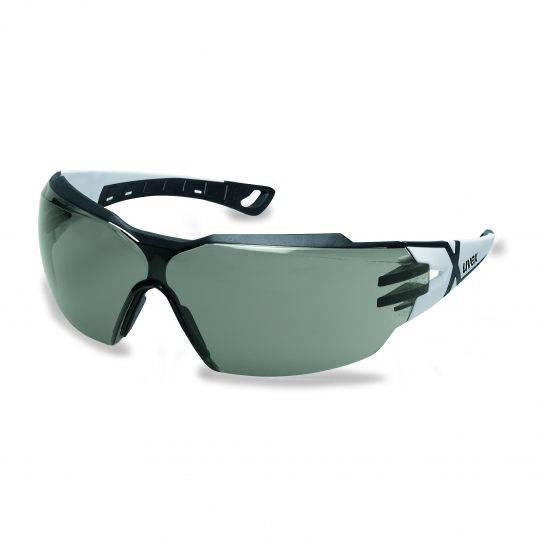 Uvex Pheos CX2 White/Black Frame Spectacles - Smoke HC-AF