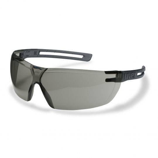 Uvex X-Fit Grey Frame Spectacles - Smoke HC-AF