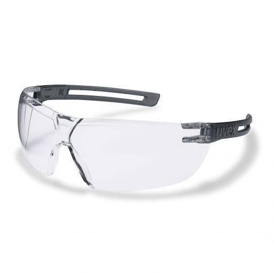 Uvex X-Fit Grey Frame Spectacles - Clear HC-AF