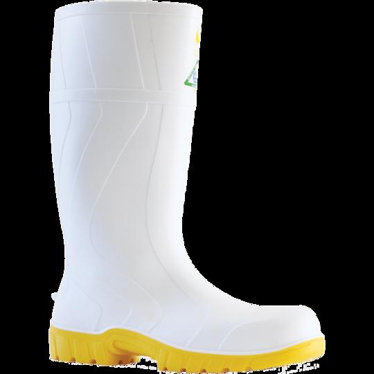 Bata Safemate 2 White Steel Toe Gumboot