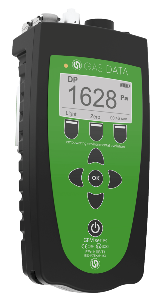 Gas Data GFM610 ATEX Certified Gas Flow and Velocity Instrument