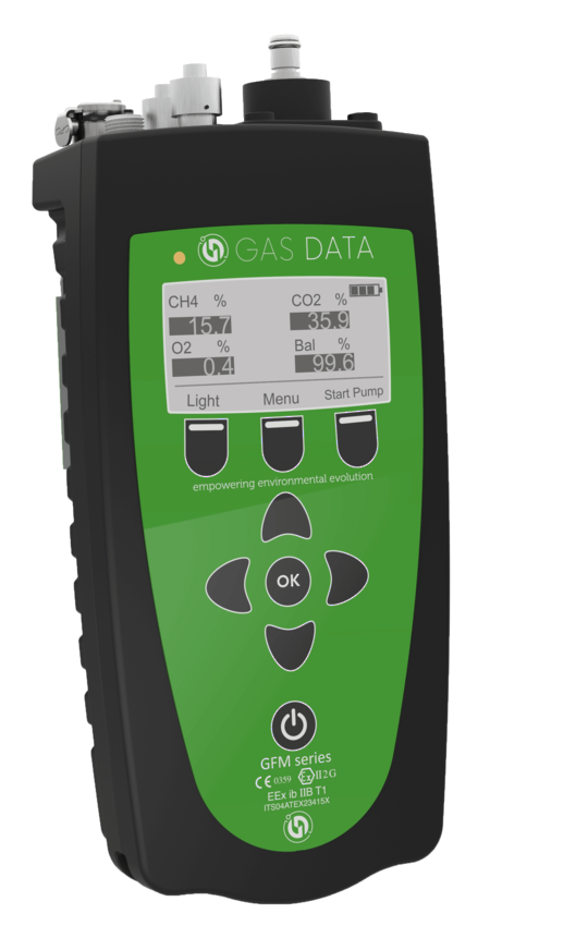 Gas Data GFM426 ATEX Portable Landfill Gas Extraction Analyser