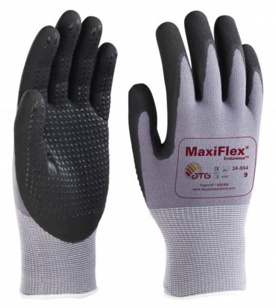 ATG Maxiflex Endurance - Finger Coated with Nitrile Dotted Palms & Fingers