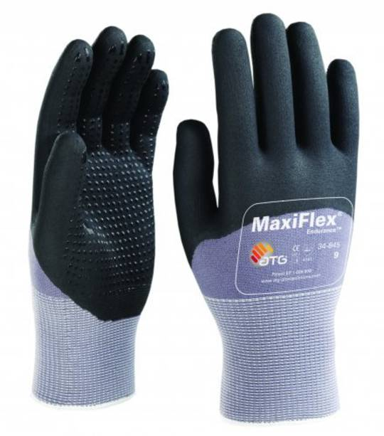 ATG Maxiflex Endurance - Palm Coated with Nitrile Dotted Palms & Fingers