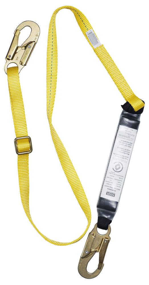 MSA Workman 2.0m Adjustable Webbing Single Leg Lanyard