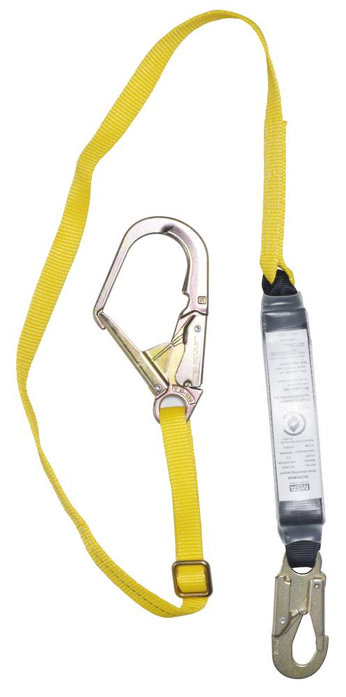MSA Workman 2.0m Adjustable Webbing Single Leg Scaffold Lanyard