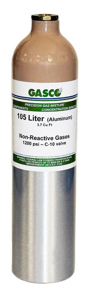 GASCO 105L Disposable Cylinder - Non Reactive Gas Mixes