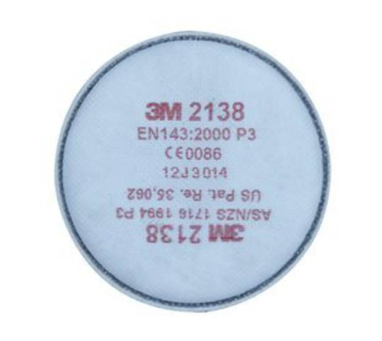 3M™ Particulate Filter 2138, P2/P3, with Nuisance Level Organic Vapour Relief