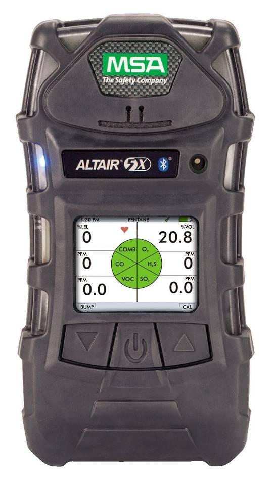 MSA Altair 5X Multigas Detector (LEL,O2, + 4 Tox/VOC)