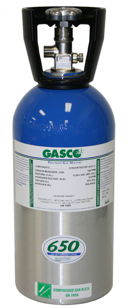 GASCO 650ES Ecosmart Refillable Cylinder - Multi Gas Mix
