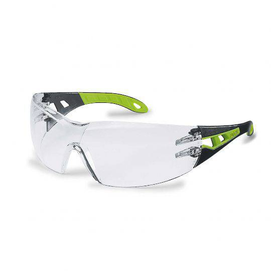 Uvex Pheos Black/Green Glasses - Clear HC-AF