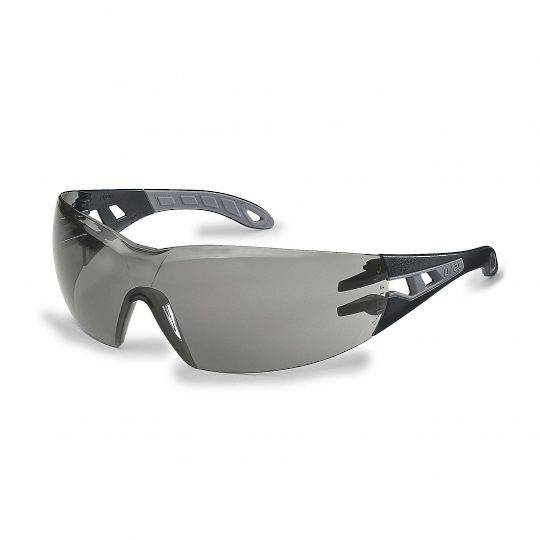 Uvex Pheos Black/Grey Frame Spectacles - Smoke HC-AF