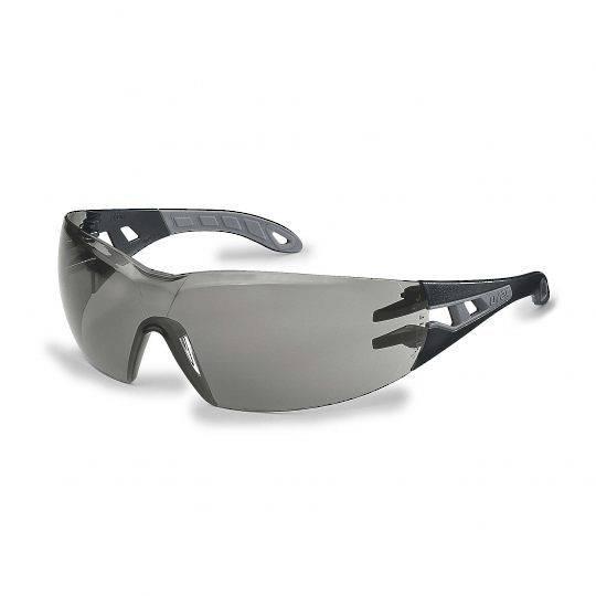 Uvex Pheos Black/Grey Frame Spectacles - Smoke HC-AF