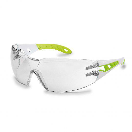 Uvex Pheos Small White/Green Glasses - Clear HC-AF